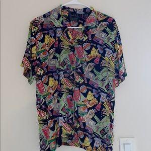 90s Vintage Nicole Miller Silk Shirt